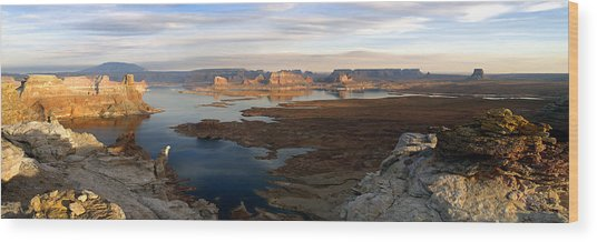 Lake Powell From Alstrum Pt Pan 2 Wood Print