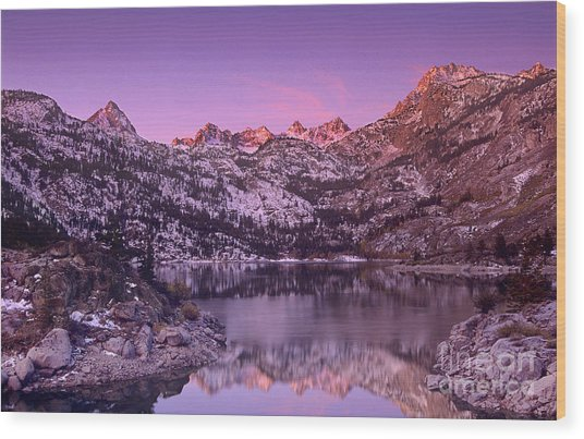 Lake Sabrina Sunrise Eastern Sierras California Wood Print