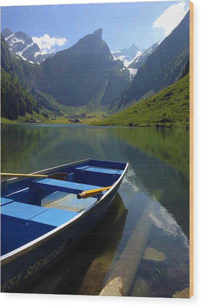 Lake Seealpsee Alpstein Canton Appenzell Switzerland Wood Print by PIXELS  XPOSED Ralph A Ledergerber Photography