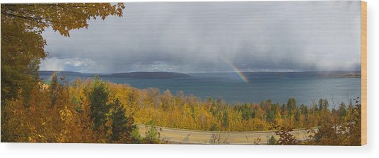 Lake Superior Overlook Wood Print