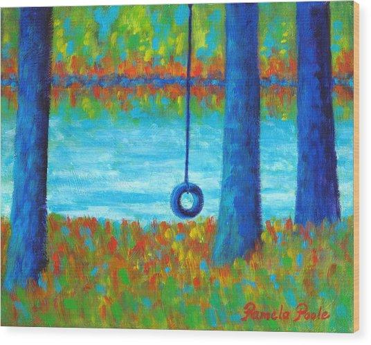Lake Swing Tranquility Wood Print