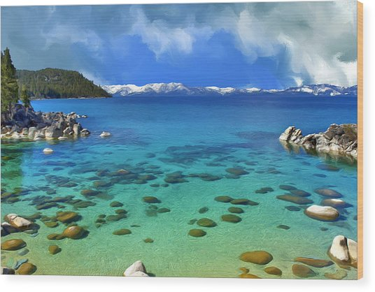 Lake Tahoe Cove Wood Print