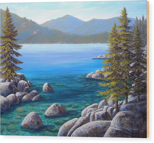 Lake Tahoe Inlet Wood Print