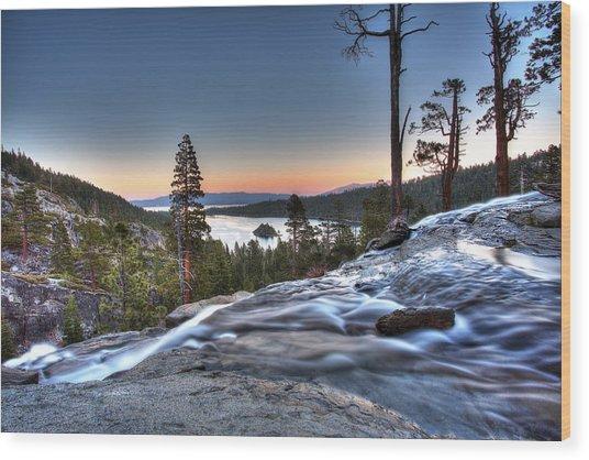 Lake Tahoe Sunset At Eagle Falls Wood Print