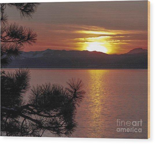 Lake Tahoe Sunset Wood Print