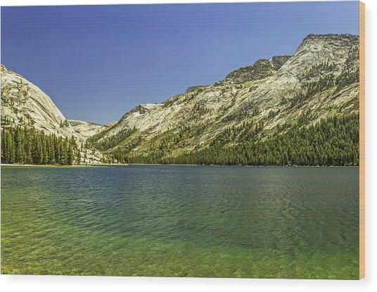 Lake Tenaya-yosemite Series 12 Wood Print by David Allen Pierson