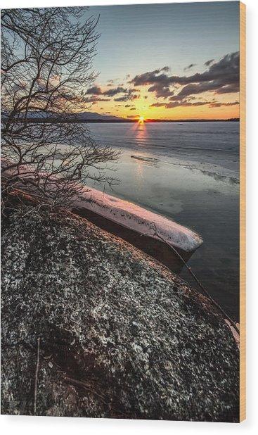 Lake Thaw Wood Print