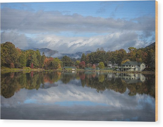 Lake Tomahawk Wood Print