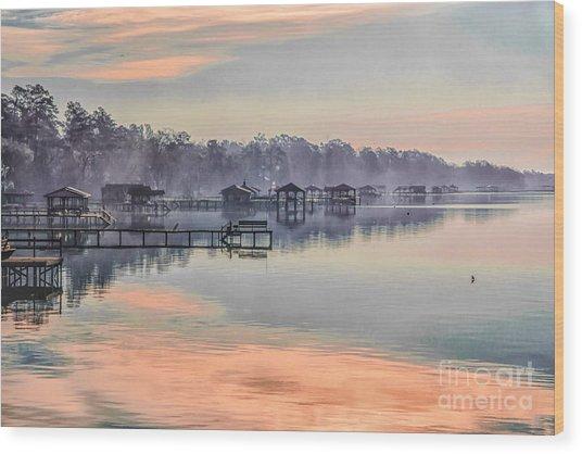 Lake Waccamaw Morning Wood Print
