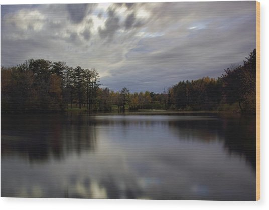 Lake Wausau's Bluegill Bay Park Wood Print