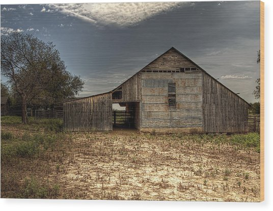 Lake Worth Barn Wood Print