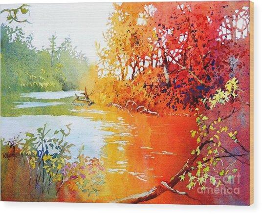 Lakescene 1 Wood Print