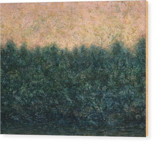 Lakeshore Sunrise Wood Print