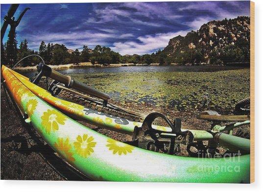 Lakeside Cruzzz Wood Print by Scott Allison