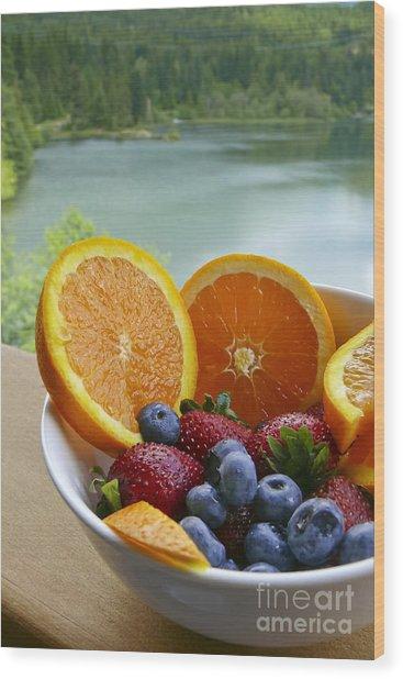 Lakeside Fruit Bowl Wood Print