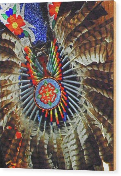 Lakota Feather Dance Wood Print