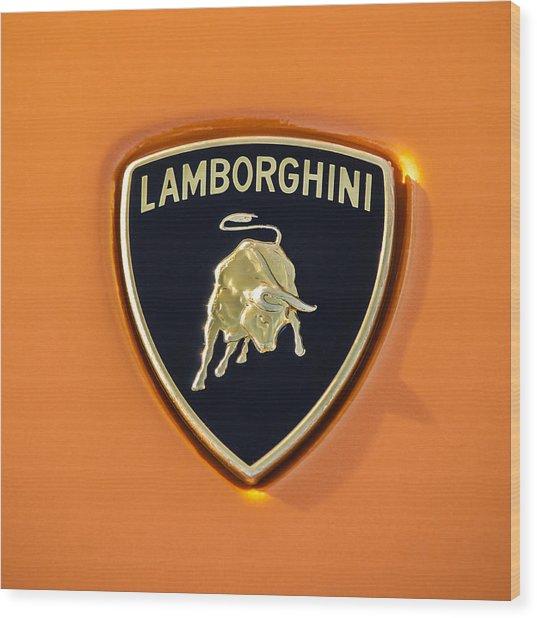 Lamborghini Emblem -0525c55 Wood Print