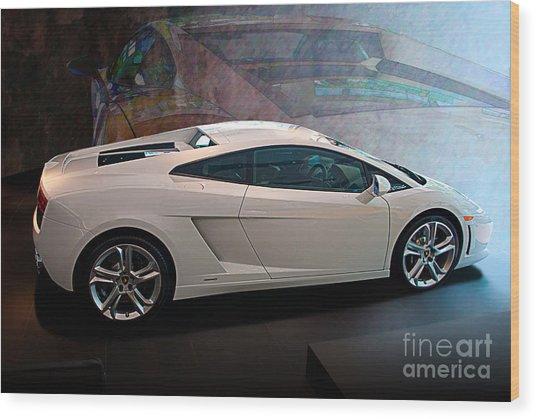 Lamborghini Gallardo Lp550-2 Side View Wood Print