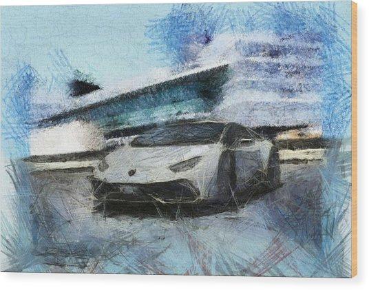 Lamborghini Huracan Wood Print
