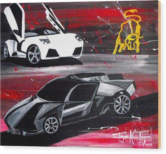 Lamborghini Leverage Wood Print