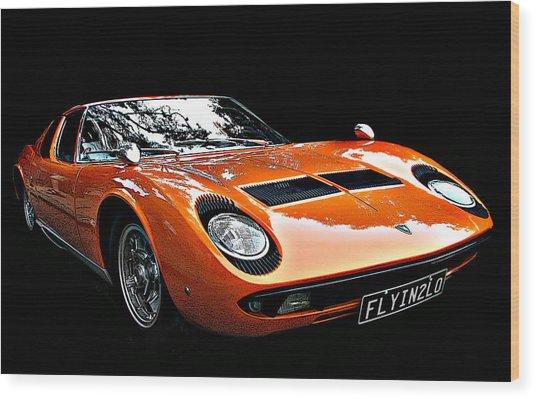Lamborghini Miura S Wood Print