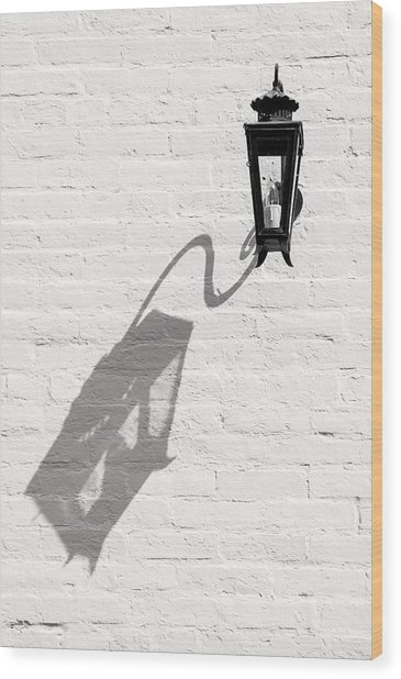 Lamp Shadow Wood Print