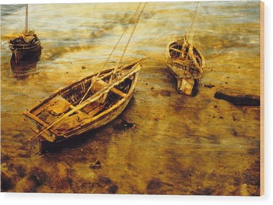 Lamu Dhows Wood Print