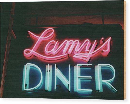 Lamys Diner Wood Print