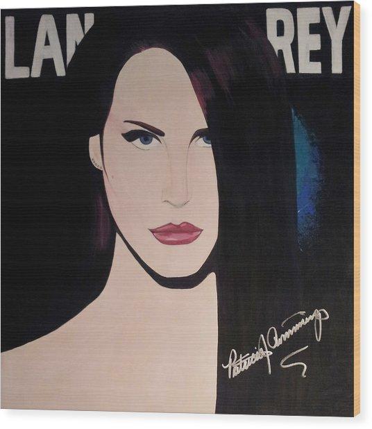 Lana Del Rey Blue Eyes Wood Print
