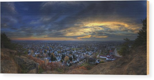 Lancaster Ohio Panorama Wood Print