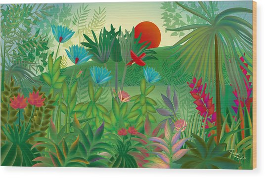 Land Of Flowers - Limited Edition 2 Of 15 Wood Print