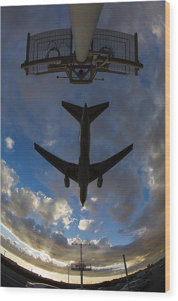 Landing At Lax  73a3680 Wood Print