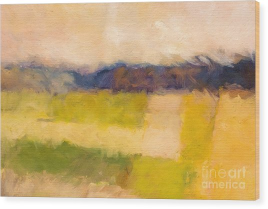 Landscape Abstract Impression Wood Print
