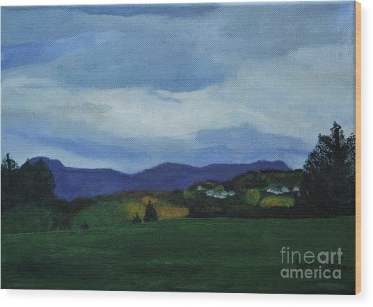 Landscape Of Sola Norway Wood Print