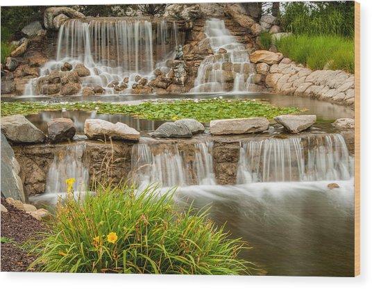 Landscape Waterfall Wood Print