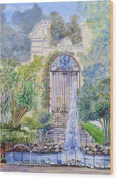 Landscaped Gardens Wood Print