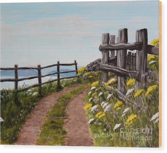 Lane At Highland Village Wood Print