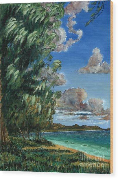 Lanikai Beach Wood Print