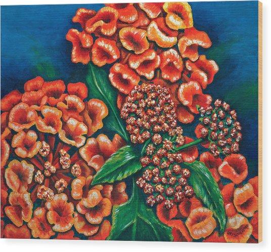 Lantana Wood Print