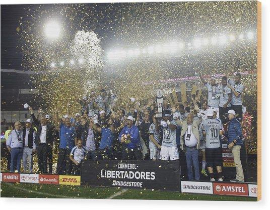 Lanus V Gremio - Copa Conmebol Libertadores 2017 Wood Print by Demian Alday