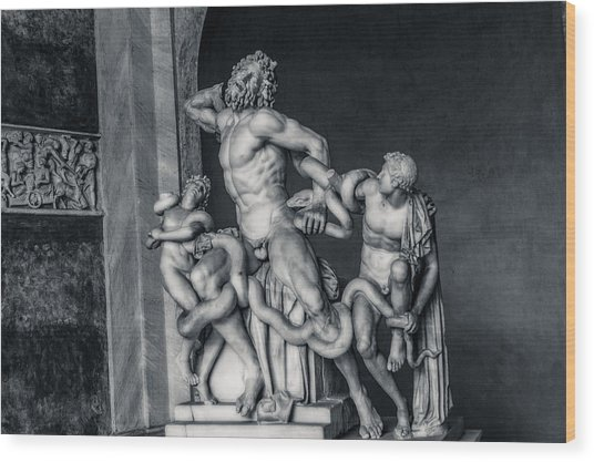 Laocoon And His Sons Wood Print