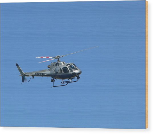 Lapd Helicopter Wood Print