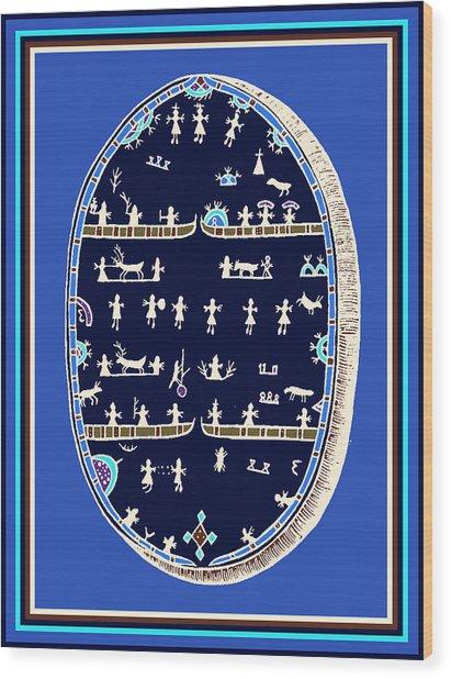 Lappish Shaman's Ritual Drum Wood Print