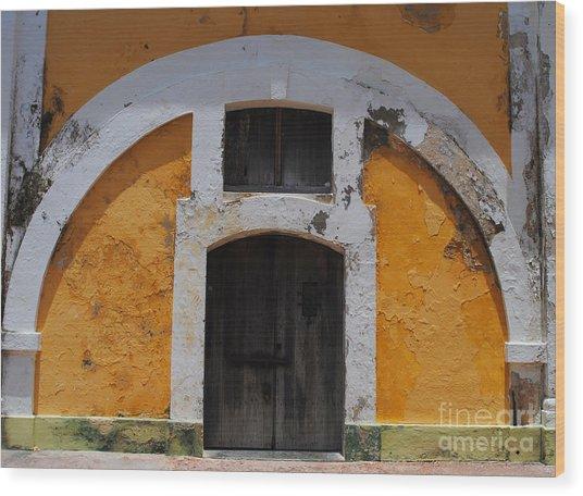 Large El Morro Arch Wood Print
