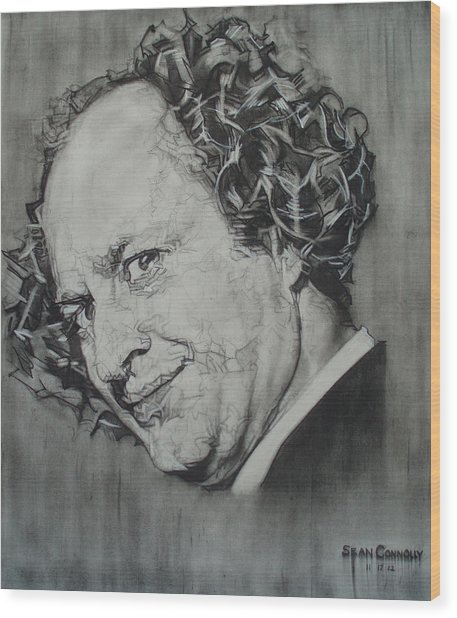 Larry Fine Of The Three Stooges - Where's Your Dignity? Wood Print