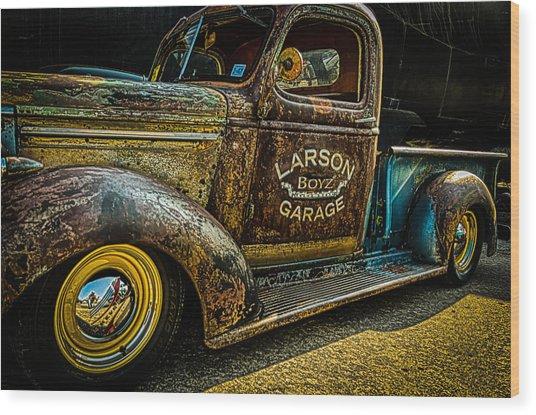 Larson Boyz Garage Wood Print