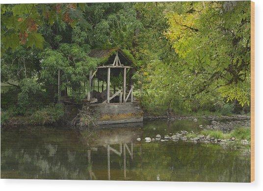 Larwood Covered Bridge Park Wood Print