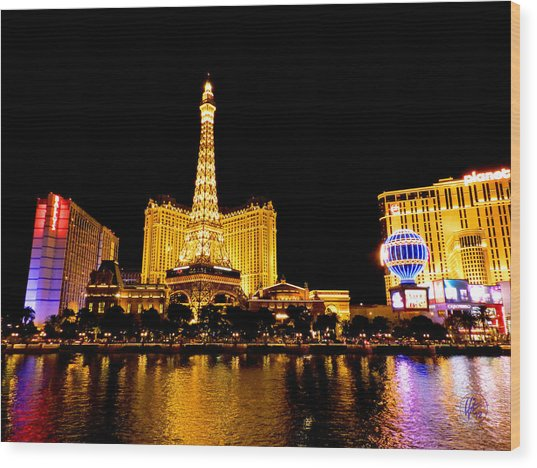 Wood Print featuring the photograph Las Vegas 012 by Lance Vaughn