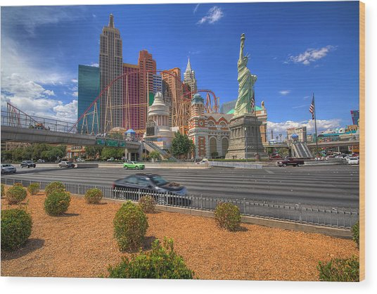 Las Vegas New York New York Wood Print