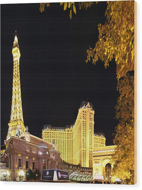 Las Vegas - Paris Casino - 01132 Wood Print by DC Photographer